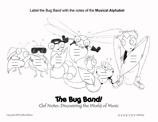 color pages - the bug band